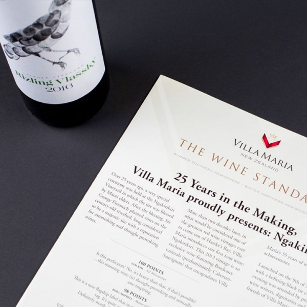 Berta Winery in the official magazine of the New Zealand's icon Villa Maria